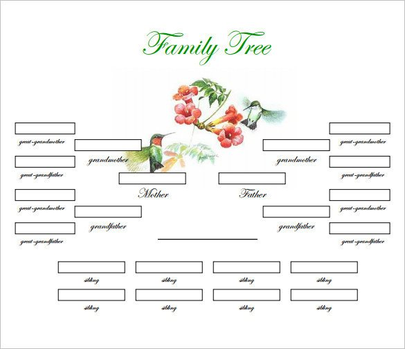 Free Printable Family Tree Template Family Tree Template 31 Free Printable Word Excel Pdf