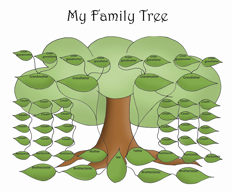 Free Printable Family Tree Template Free Editable Family Tree Template Daily Roabox