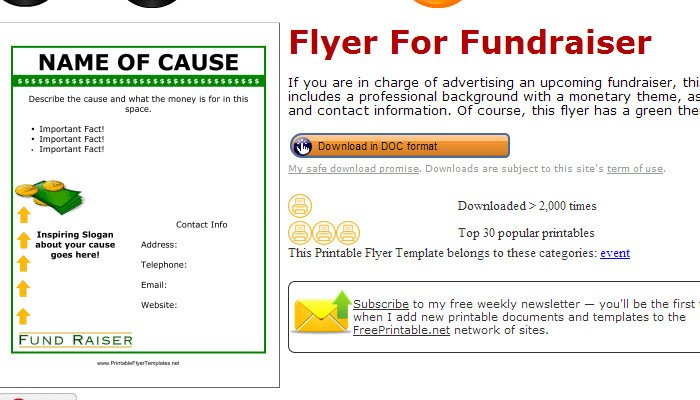 Free Printable Fundraiser Flyer Templates 5 Free Fundraiser Flyer Templates
