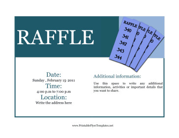 Free Printable Fundraiser Flyer Templates Flyer for Raffle