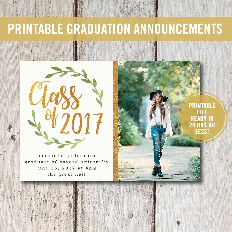 Free Printable Graduation Announcements College Graduation Invitation Printable High School
