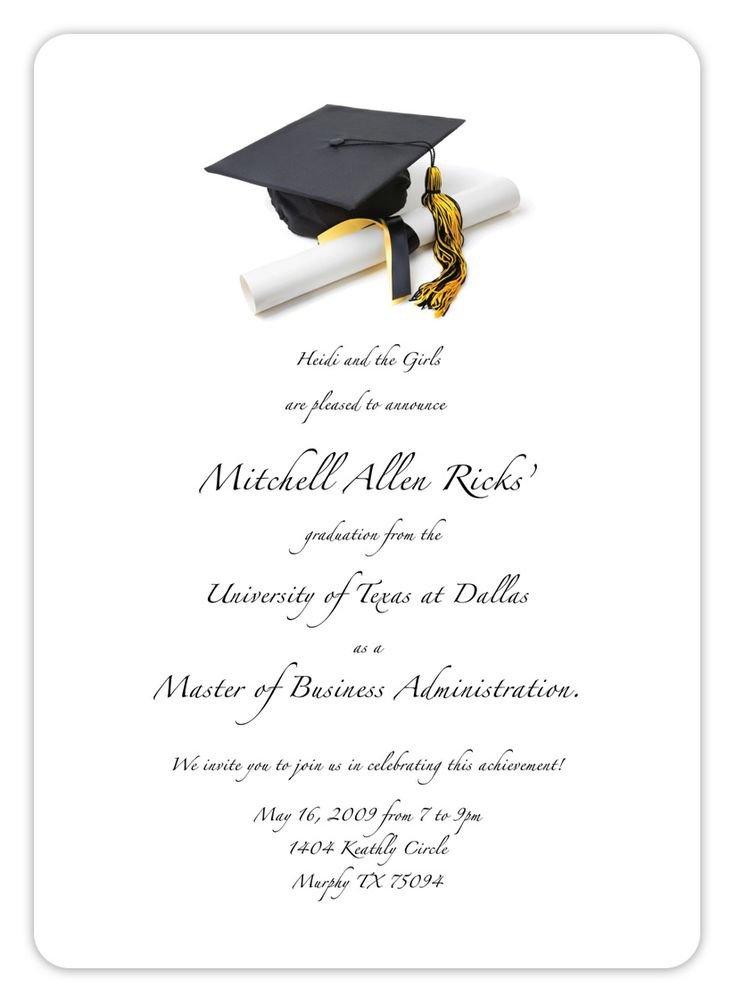 Best 25 Graduation invitation templates ideas on