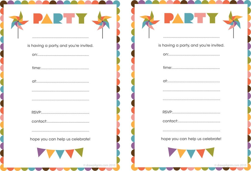 Free Printable Birthday Card Invitations — Birthday