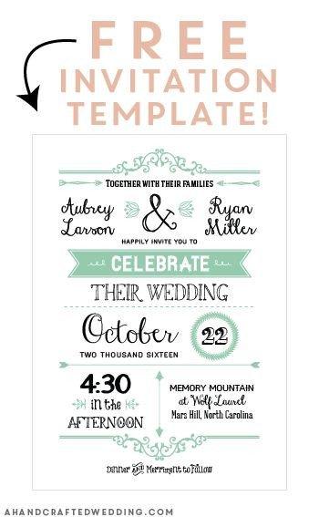 Free Printable Invitation Templates Free Printable Wedding Invitation Template