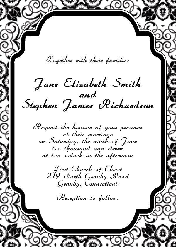 Free Printable Invitation Templates Free Printable Wedding Invitation Templates