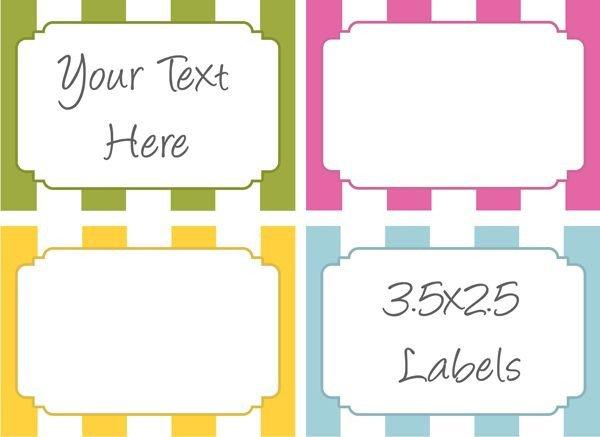 Free Printable Labels Template Bake Sale Label Printables Bake Sale Ideas