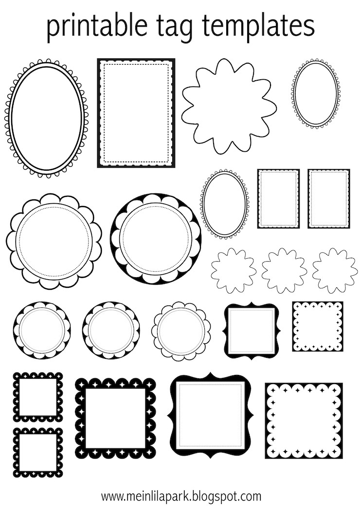 Free Printable Labels Template Free Printable Tag Templates for Diy Tags Ausdruckbare