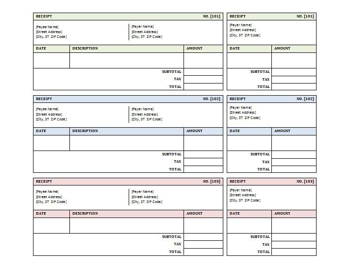 Free Printable Receipt Templates 12 Free Sales Receipt Templates Word Excel Pdf