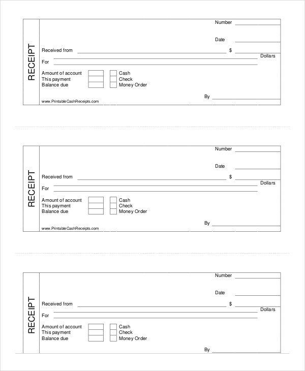 Free Printable Receipt Templates Cash Receipt Template 8 Free Word Pdf Documents