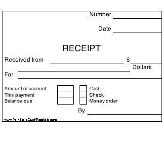Free Printable Receipt Templates New Printable Cash Receipts