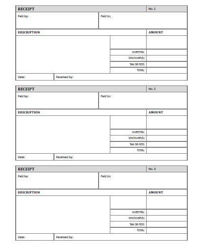 Free Printable Receipt Templates Receipt Template Free Printable Allfreeprintable