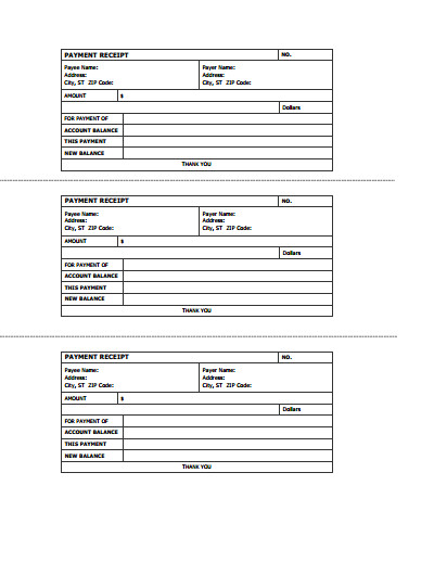 Free Printable Receipt Templates Receipts Free Download Create Edit Fill and Print