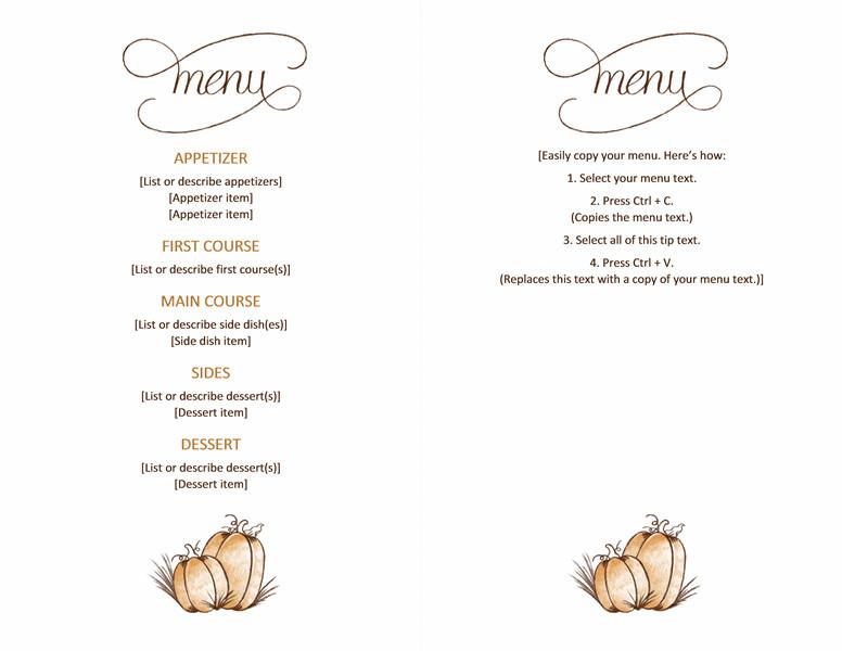 Free Printable Restaurant Menu Templates Free Able Printable Thanksgiving Menu