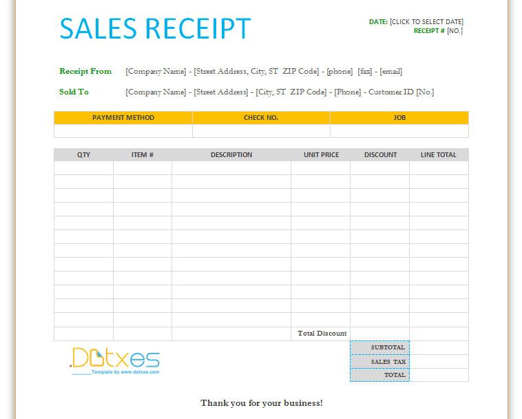 Free Printable Sales Receipt Template 17 Sales Receipt Templates Excel Pdf formats
