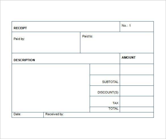 Free Printable Sales Receipt Template Sales Receipt Template 22 Free Word Excel Pdf format