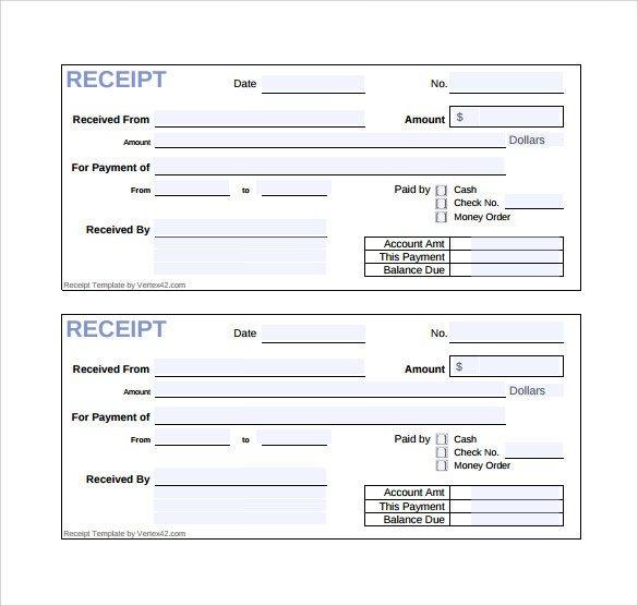 Free Printable Sales Receipt Template Sample Sales Receipt Template 19 Free Documents In Word