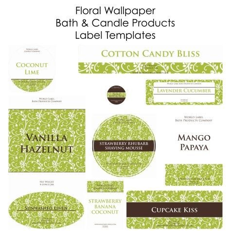 Free Soap and Candle making labels in printable templates