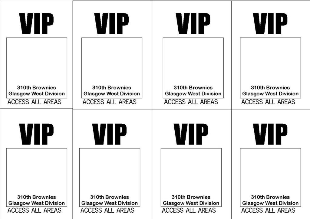 Free Printable VIP Ticket Access Template Example with