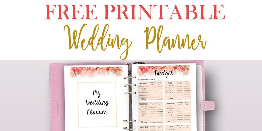 Free Printable Wedding Binder Templates Free Printable Wedding Planner for Wedding Binder