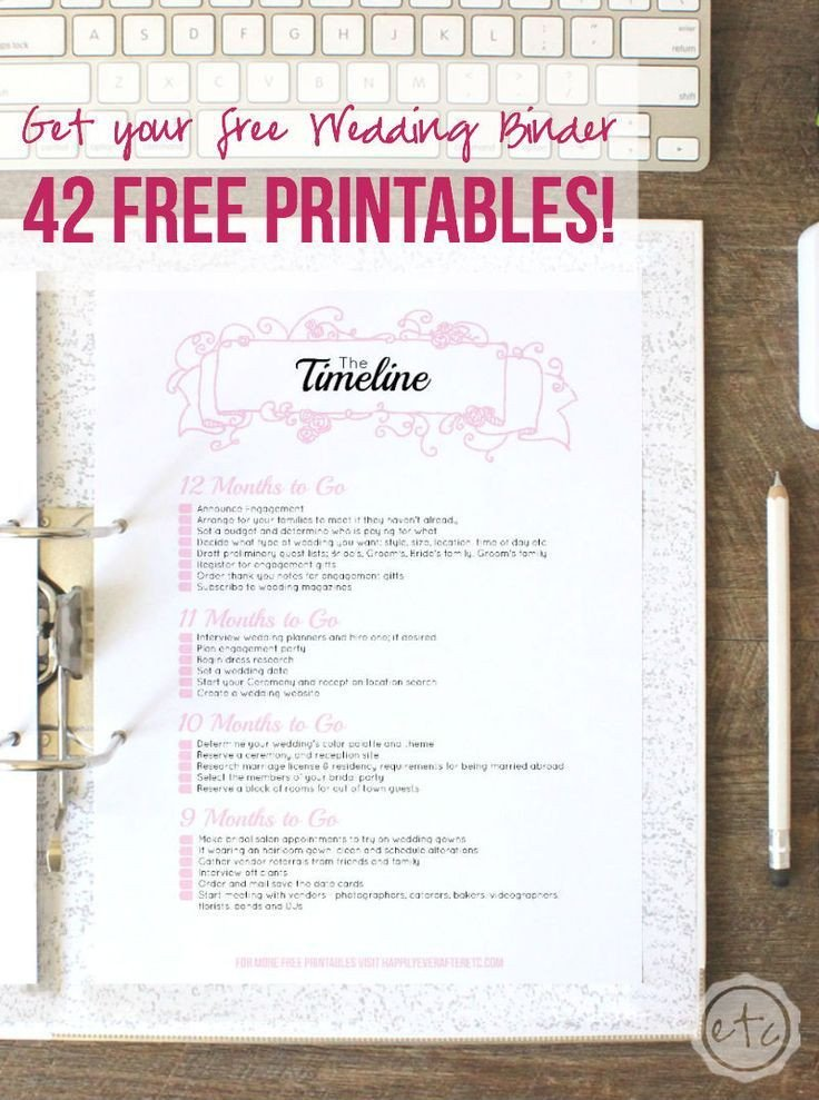 Free Printable Wedding Binder Templates How to Put to Her Your Perfect Free Wedding Binder