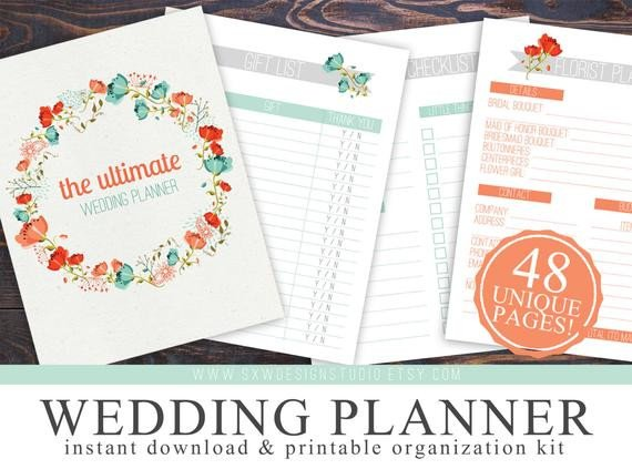Free Printable Wedding Binder Templates Printable Wedding Checklist Planner