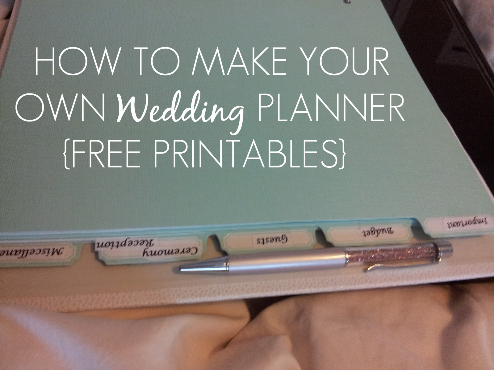 Free Printable Wedding Binder Templates Sleepless In Diy Bride Country How to Make Your Own