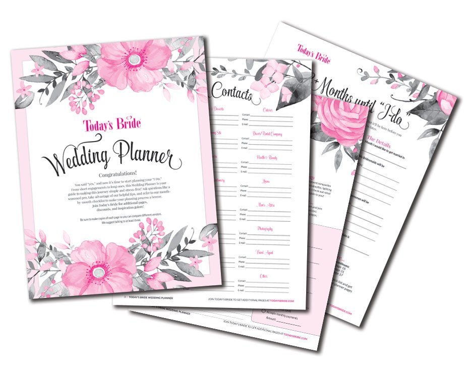 Free Printable Wedding Binder Templates today's Bride Printables