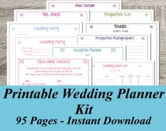 Free Printable Wedding Binder Templates Ultimate Wedding Planner Over 75 organizational