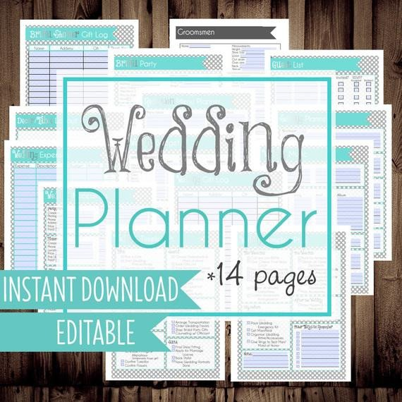 Free Printable Wedding Binder Templates Wedding Planner Diy Wedding Binder Wedding Planner