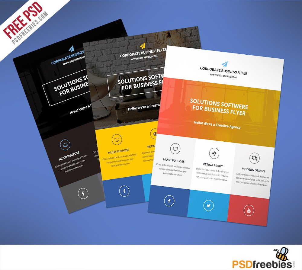 Free Psd Business Flyer Templates Download Free Flat Clean Corporate Business Flyer Template