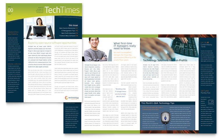 Free Publisher Newsletter Templates Free Newsletter Template Download Word & Publisher Templates