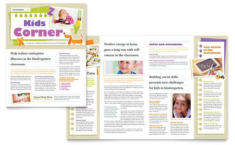 Free Publisher Newsletter Templates Kindergarten Newsletter Template Word & Publisher
