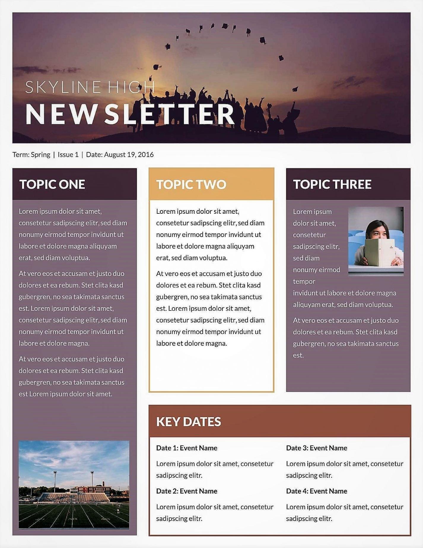 Free Publisher Newsletter Templates Microsoft Newsletter Templates Publisher Free