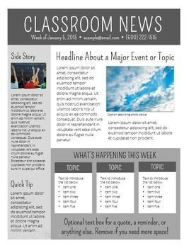 Free Publisher Newsletter Templates Newsletter Templates Editable Class News