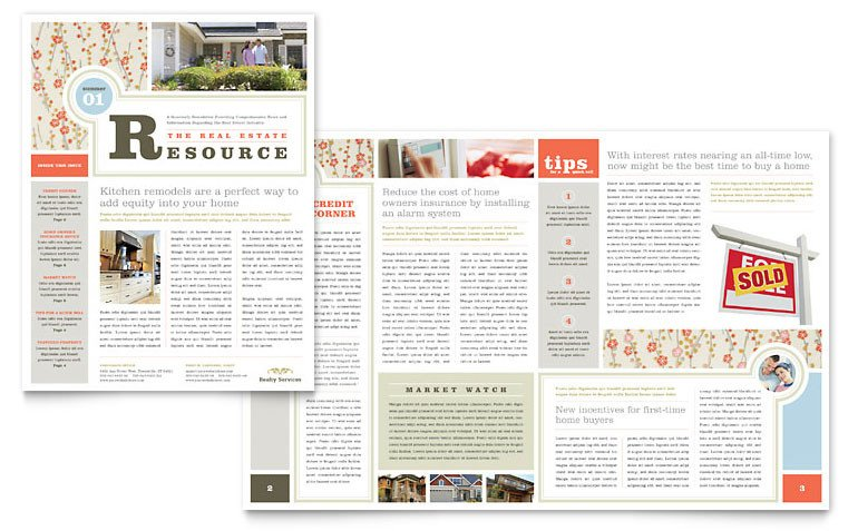 Free Publisher Newsletter Templates Real Estate Home for Sale Newsletter Template Word