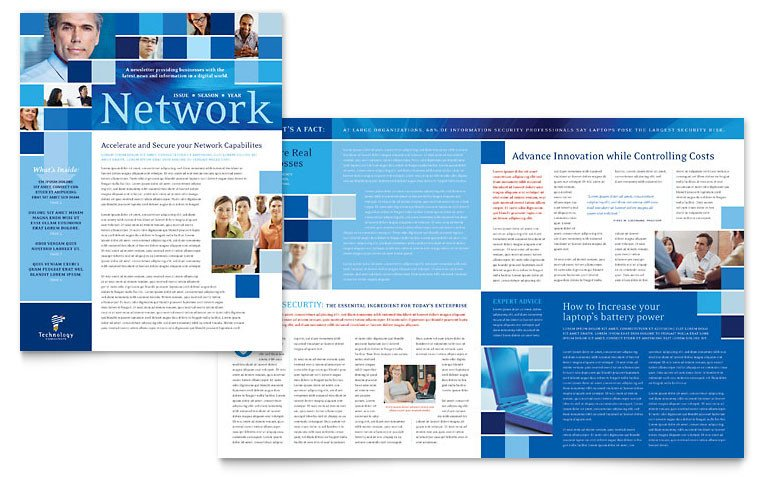 Free Publisher Newsletter Templates Technology Consulting & It Newsletter Template Word