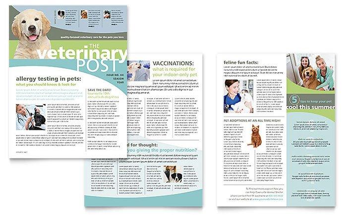 Free Publisher Newsletter Templates Vet Clinic Newsletter Template Word & Publisher