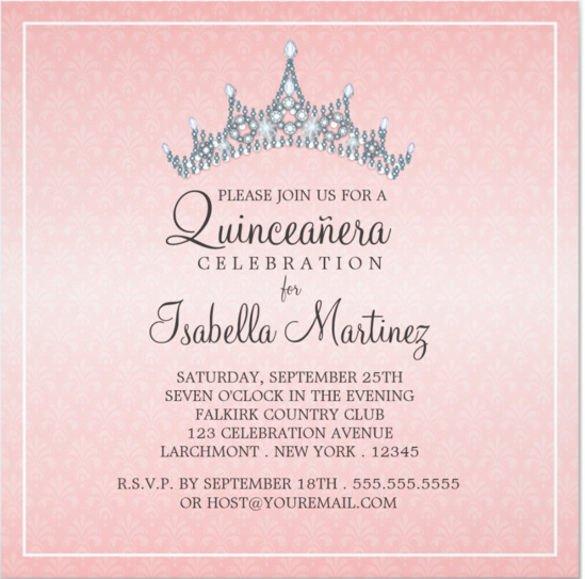 Free Quinceanera Invitation Templates Free Printable Quinceanera Invitation Templates