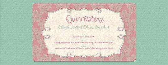 Free Quinceanera Invitation Templates Quinceañera Free Online Invitations