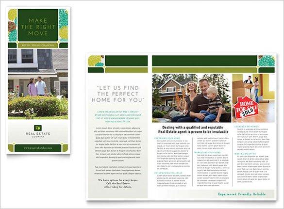 Free Real Estate Brochure Templates 25 Real Estate Brochures Eps Word Pdf Indesign