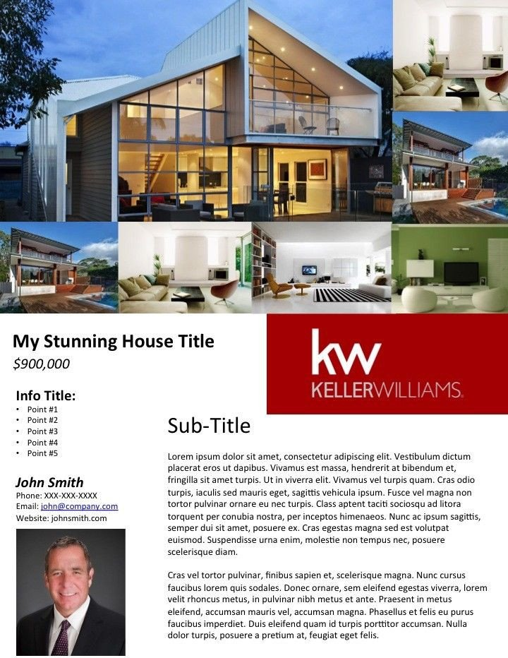 Free Real Estate Brochure Templates Free Real Estate Flyer Templates