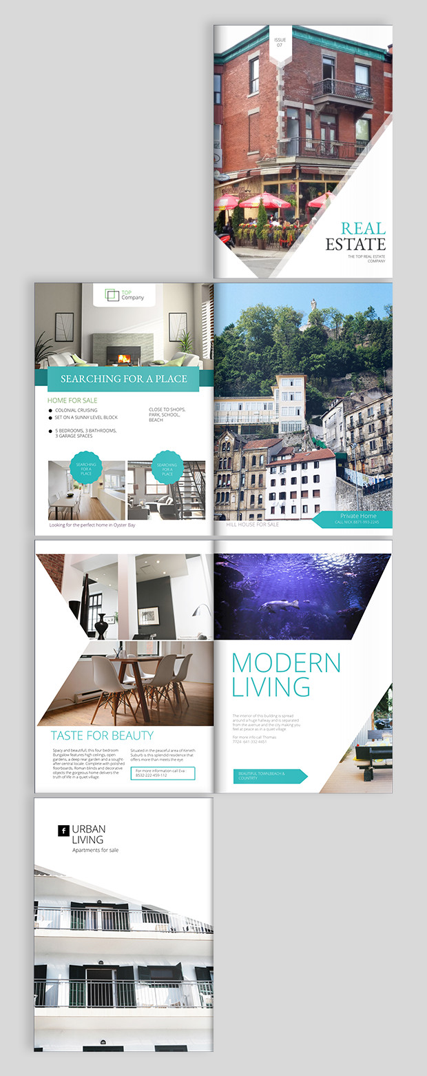 Free Real Estate Brochure Templates Real Estate Brochure Design Templates and Ideas