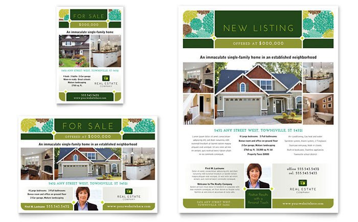 Free Real Estate Brochure Templates Real Estate Flyer & Ad Template Design