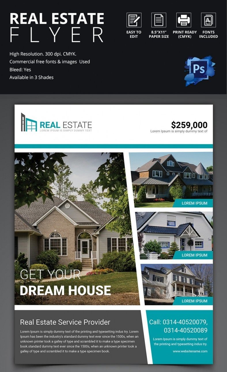 Free Real Estate Brochure Templates Real Estate Flyer Template 37 Free Psd Ai Vector Eps