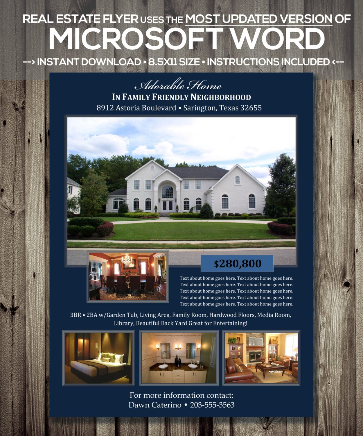Free Real Estate Brochure Templates Real Estate Flyer Template Microsoft Word Cx Version