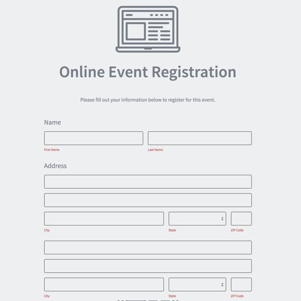 Free Registration forms Template Google forms Alternative formstack