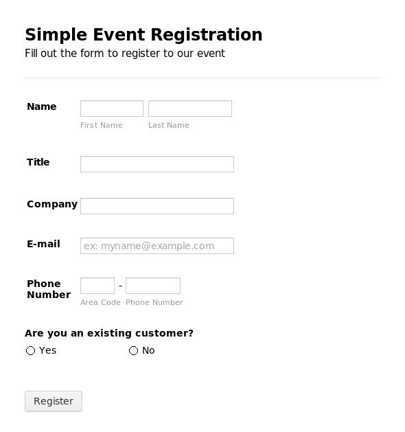 Free Registration forms Template Registration form Template
