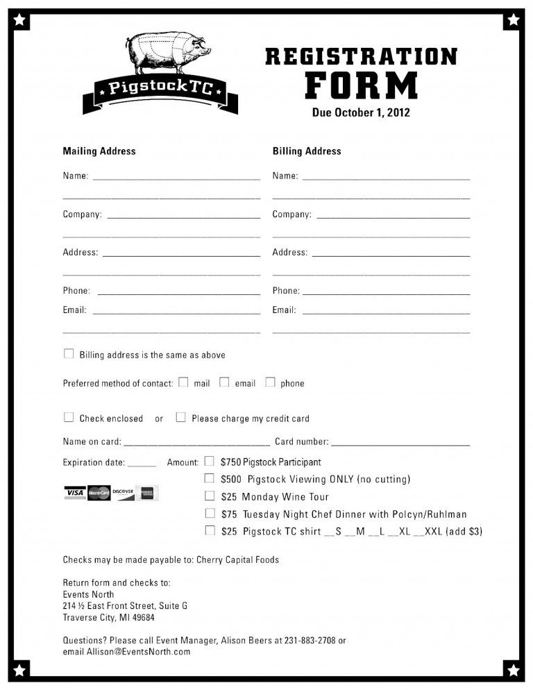 Free Registration forms Template Registration form Template