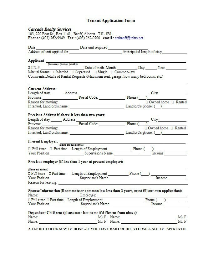 Free Rental Application form Template 42 Rental Application forms & Lease Agreement Templates