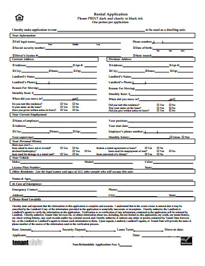 Free Rental Application form Template Rental Application Free Download Create Edit Fill and